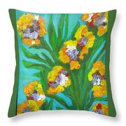 Fire Blossoms Throw Pillow