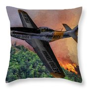 Fire Boss - Oil Throw Pillow
