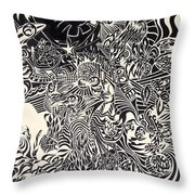 Fire Breathing Cow Throw Pillow