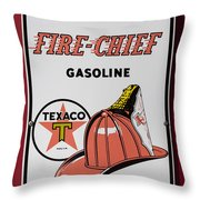 Fire-chief Sign Throw Pillow