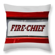 Fire-chief Throw Pillow