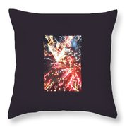 Fire Confetti Throw Pillow