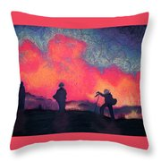 Fire Crew Throw Pillow
