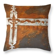 Fire Cross Throw Pillow