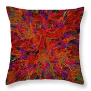 Fire Crystals Throw Pillow