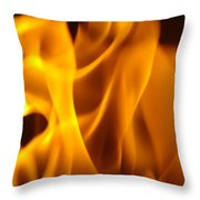 Fire Desires Art Fiery Hot New York Autumn Warmth Baslee Troutman Throw Pillow