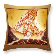 Fire Elemental Throw Pillow