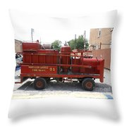 Fire Engine Of Older Years  Throw Pillow