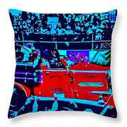 Fire Engine Red In Blue Throw Pillow