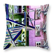 Fire Escape 2 Throw Pillow