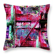 Fire Escape 3 Throw Pillow