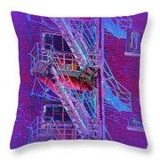 Fire Escape 4 Throw Pillow