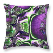 Fire Escape Fractal Throw Pillow
