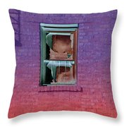 Fire Escape Window 2 Throw Pillow
