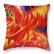 Fire Fairy Throw Pillow