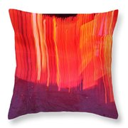 Fire Fence Throw Pillow