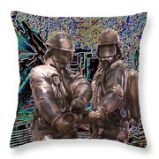 Fire Fighters Memorial Seattle Throw Pillow