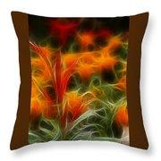 Fire Flowers 5227 Throw Pillow