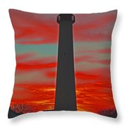 Fire Frames The Lighthouse Throw Pillow