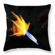 Fire Hand Throw Pillow