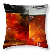 Fire Hazard Original Madart Painting Throw Pillow