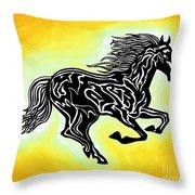 Fire Horse 3 Throw Pillow