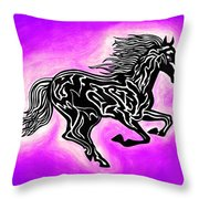 Fire Horse 7 Throw Pillow