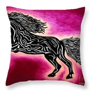 Fire Horse Blaze 4 Throw Pillow