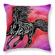 Fire Horse Burn 4 Throw Pillow