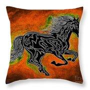 Fire Horse Neona 4 Throw Pillow