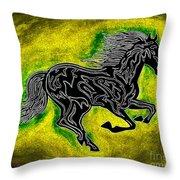 Fire Horse Neona 5 Throw Pillow