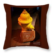 Humor At The Hydrant, Bray, Ireland Throw Pillow