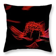 Fire In Abstract Throw Pillow
