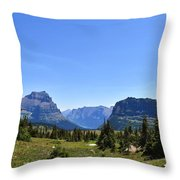 Fire In Glacier National Park Throw Pillow