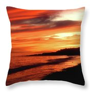 Fire In Sky Throw Pillow