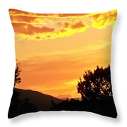 Fire In The Sky 1 Throw Pillow