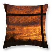 Fire In The Sky 2 Throw Pillow