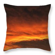 Fire In The Sky Two Throw Pillow