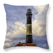 Fire Island Lighthouse Throw Pillow