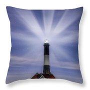 Fire Island Lighthouse Twilight Throw Pillow