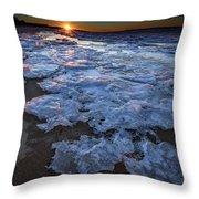Fire Island Winter Throw Pillow