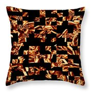 Fire Jumble Throw Pillow