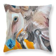Fire Jumper Throw Pillow