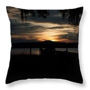Fire Light Sunset Throw Pillow