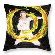 Fire Man Throw Pillow