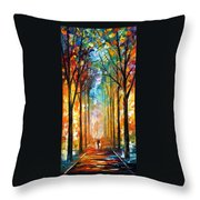 Fire Night Throw Pillow