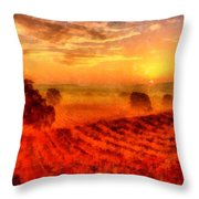 Fire Of A New Day Throw Pillow