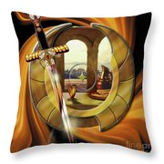 Fire Of Glory Throw Pillow