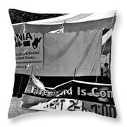 Fire Of God Is Coming Bw Throw Pillow