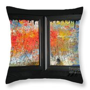 Fire On The Prairie Throw Pillow